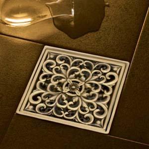 کف شور برنجی برنزی طلایی طرح کلاسیک
